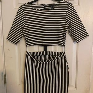 Black and white dress from forever 21